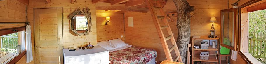 Accueil chambre d 39 h tes cabane perch e cabane dans les - Chambre d hote cabane dans les arbres ...